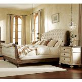 American Drew Jessica McClintock Boutique 4-Piece Sleigh Bedroom Set in Baroque