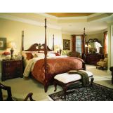 American Drew Cherry Grove 45th Pediment Poster Bedroom Set in Cherry