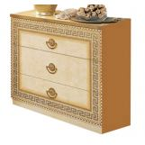ESF Furniture Aida Single Dresser in Ivory w/ Gold