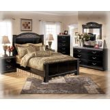 Constellations 4-Piece Poster Bedroom Set in Black