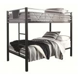 Dinsmore Twin/Twin Bunk Bed w/Ladder in Black/Gray B106-59