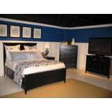 Magnussen Furniture Southampton 4-Piece Panel Bedroom Set in Black