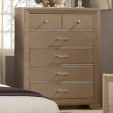 Crown Mark Furniture Fontaine Chest in Champagne Faux B1700-4
