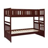 Homelegance Rowe Twin/Twin Bunk Bed in Dark Cherry B2013DC-1*