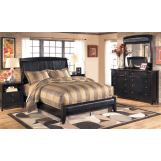 Harmony 4pc Platform Bedroom Set in Dark Brown