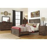 Emma Mason Signature Queenie 4-Piece Panel Bedroom Set in Dark Brown