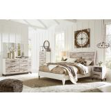 Evanni 4pc Panel Bedroom Set in Multi