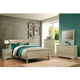 Crown Mark Louis Philip 5pc Sleigh Bedroom Set in Champagne B3400