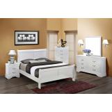 Crown Mark Furniture Louis Philip Bedroom Set in White