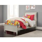 Emma Mason Signature Jarred Twin Sleigh Bed in Gray