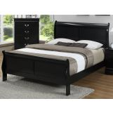Crown Mark Furniture Louis Philip Full Bed in Black