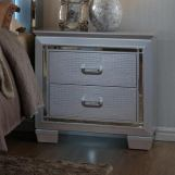 Crown Mark Furniture Lillian Night Stand in Silver B7100-2