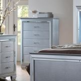 Crown Mark Furniture Lillian Chest in Silver B7100-4