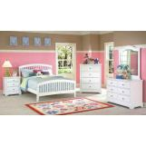 New Classic Bayfront Slat Bedroom Set in White Painted Finish 1415