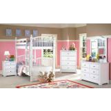 New Classic Bayfront Bunk Bedroom Set in White Painted Finish 1415