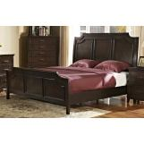New Classic Highland Park King Sleigh Bed in Distressed Walnut