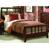 American Drew Tribecca King Slat Bed in Brown