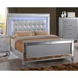 New Classic Furniture Valentino Youth Twin Bed in Silver