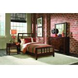 American Drew Tribecca Slat Bedroom Set with Leg Nightstand