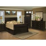 Emma Mason Signature Miel Rose 4-Piece Sleigh Bedroom Set in Black Cherry