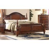 Fairfax Home Furnishings Folio Bethany Queen Panel Bed in Maple Brown