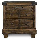 Magnussen Furniture Brenley 3-Drawer Nightstand in Natural Umber B2524-01