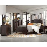 Magnussen Pine Hill 4-Piece Canopy Bedroom Set in Rustic Pine