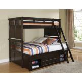 New Classic Canyon Ridge Twin Bunk Bed in Chestnut 05-230-518T