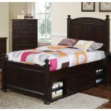 New Classic Canyon Ridge Full Panel Bed with Storage in Chestnut 05-230-410F
