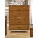 New Classic Furniture Bamboo Wave 5 Drawer Chest in Natural B720-070