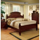 Furniture of America Gabrielle II Queen Poster Bed in Cherry CM7083Q