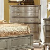 Furniture of America Johara 5 Drawer Chest in Gold CM7090C