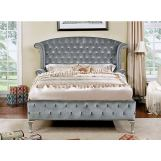 Furniture of America Alzir 4pc Sleigh Bedroom Set in Gray