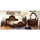 Furniture of America Castlewood 4pc Platform Bedroom Set in Cherry