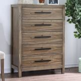 Furniture of America Garland 5 Drawer Chest in Light Oak CM7355C