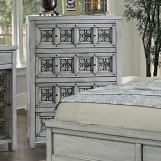 Furniture of America Pantaleon Chest in Antique Light Gray CM7392C