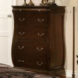 Furniture of America Brunswick 5 Drawer Chest in Brown Cherry CM7503C
