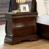 Furniture of America Brunswick 3 Drawer Nightstand in Brown Cherry CM7503N