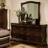 Furniture of America Brunswick 8 Drawer Dresser in Brown Cherry CM7503D