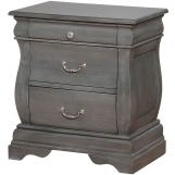 Furniture of America Merida 3 Drawer Nightstand in Gray CM7503GY-N