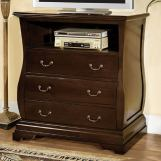 Furniture of America Brunswick 3 Drawer Media Chest in Brown Cherry CM7503TV