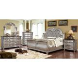 Furniture of America Fromberg 4pc Sleigh Bedroom Set in Champagne