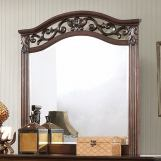 Furniture of America Cervantes Mirror in Wire-brushed Gray CM7730M