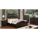 Furniture of America Calliope 4pc Panel Bedroom Set in Espresso