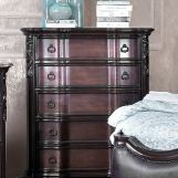 Furniture of America Arcturus 5 Drawer Chest in Brown Cherry CM7859C
