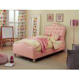 Furniture of America Sugar/Roxana 4pc Platform Bedroom Set in Pink