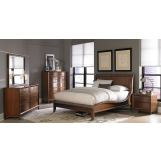 Homelegance Kasler Platform Bedroom Set in Medium Walnut