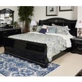 Constellations Queen Sleigh Bed in Black B104-QSLEIGH
