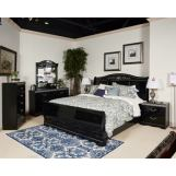 Constellations 4-Piece Sleigh Bedroom Set in Black