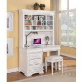 Acme Classique Computer Desk and Hutch in White 30135_KIT